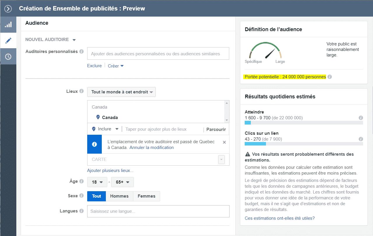 Comment obtenir une annonce sur Facebook?