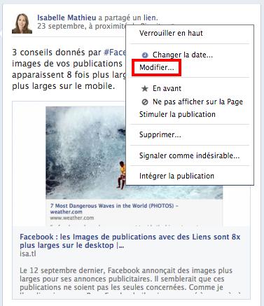 Comment savoir si une page Facebook est prise en charge?
