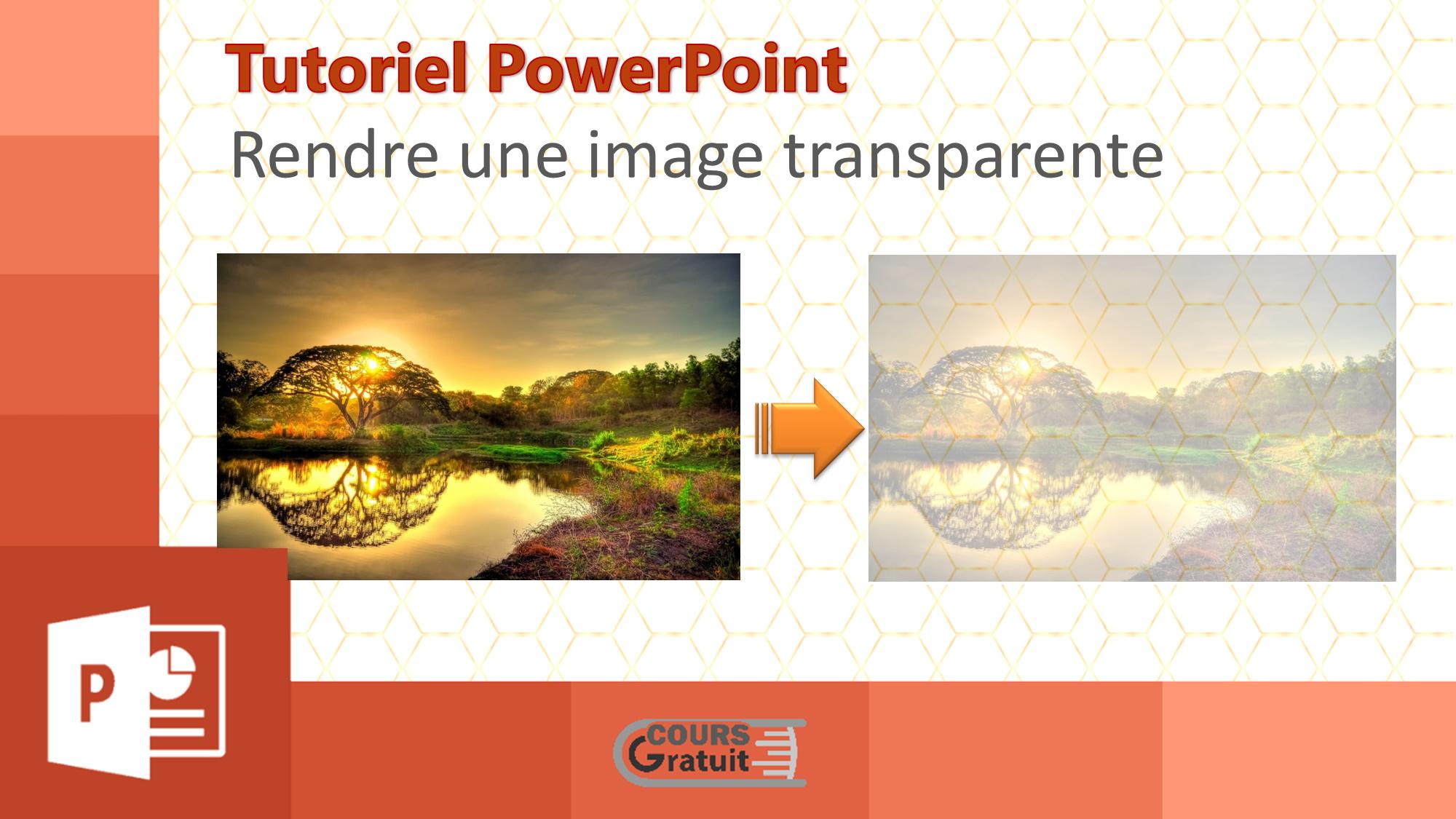 Comment rendre l'arrière-plan d'une image transparent dans Word?