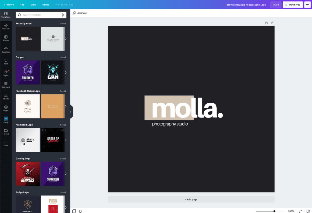 Comment puis-je créer un logo?