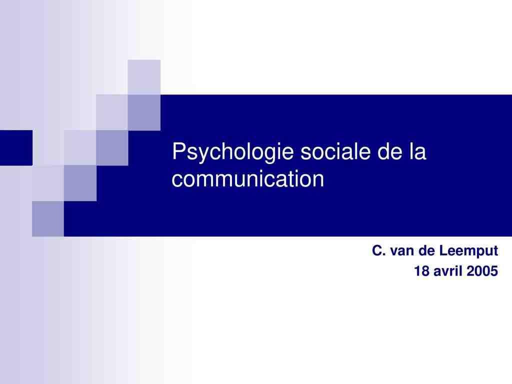 Quels sont les objectifs de la psychologie sociale ?