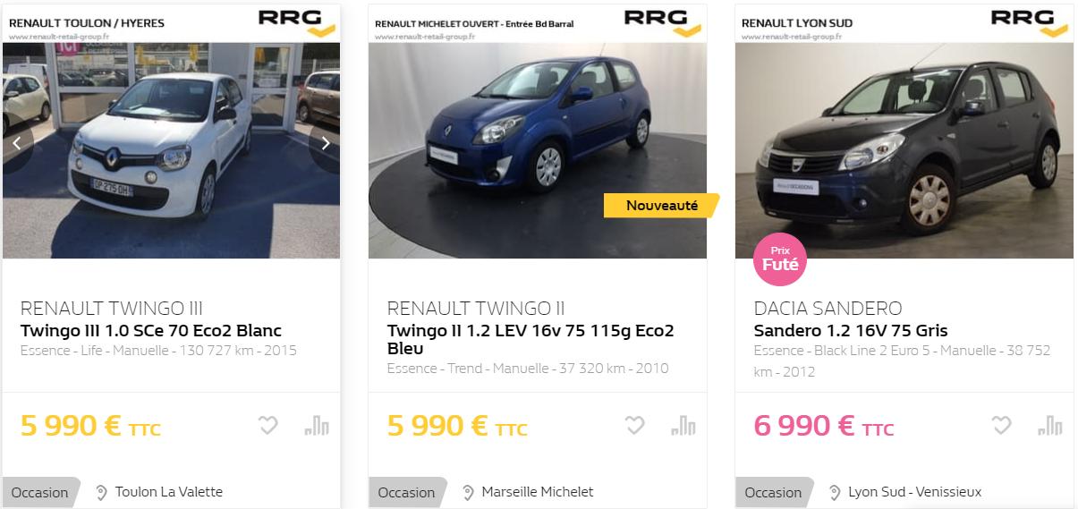 Quelle voiture acheter avec un budget de 2000 euros ?